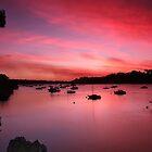 Late summer sunset over Blackwall reach by BeninFreo