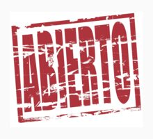 Abierto red rubber stamp effect Kids Tee