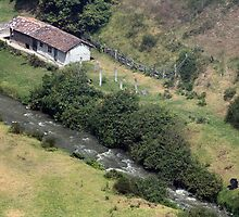Ecuadorian Farmhouse Next to a River by rhamm