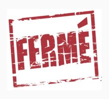 Ferme red rubber stamp effect Kids Clothes