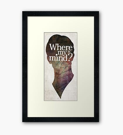 """""""Where is my mind?"""" Two Framed Print"""