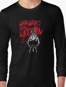 Rorschach - Who watches the WATCHMEN Long Sleeve T-Shirt