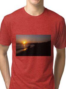 Sunset beach Tri-blend T-Shirt