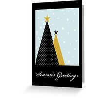 Season's Greetings - Orange Christmas Tree - Christmas Card Greeting Card