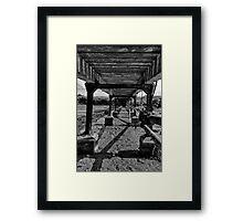 Pipes under bridge - Newhaven Framed Print