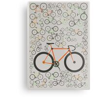 Fixed gear bikes Metal Print