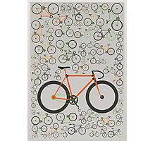 Fixed gear bikes Photographic Print