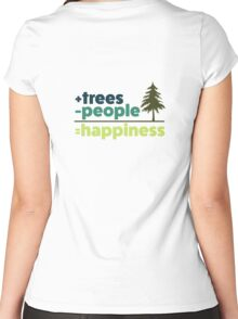 Earth Day Design +trees -people =happiness Women's Fitted Scoop T-Shirt