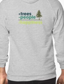 Earth Day Design +trees -people =happiness T-Shirt