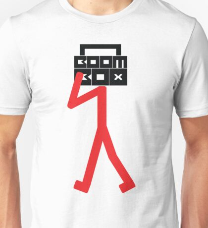 Boom box stick man Unisex T-Shirt