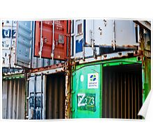 Rusty containers Poster