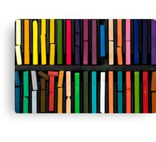 bars of bright and colorful pastel on black background Canvas Print