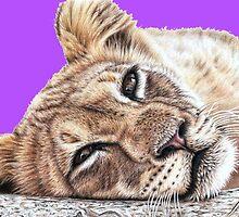 Lion PopArt by Nicole Zeug