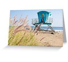 Malibu Lifeguard Tower on the beach Greeting Card