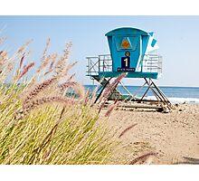 Malibu Lifeguard Tower on the beach Photographic Print