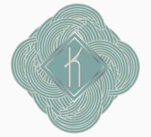 1920s Blue Deco Swing with Monogram letter K by CecelyBloom