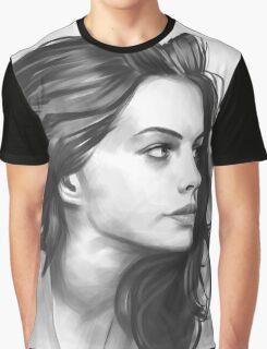 Anne Hathaway - Digital Painting illustration Graphic T-Shirt