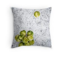 Sprouts Alternative Christmas Card Throw Pillow