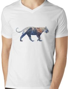 Donoho Tiger Mens V-Neck T-Shirt