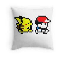 Pokemon Ash and Pikachu Throw Pillow