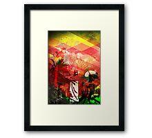Brazil Rio Red Framed Print