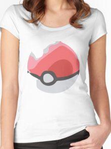 Minimalist Poké Ball Women's Fitted Scoop T-Shirt