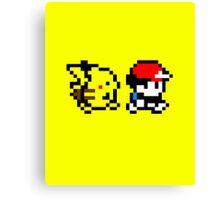 Pokemon Ash and Pikachu Canvas Print