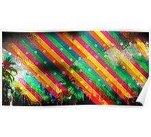 Brazil Rio Stripes Poster