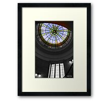 Art deco ceiling in colour  and black and white  Framed Print