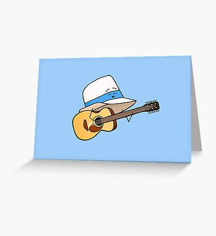 Fedora Crooner Greeting Card