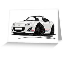 Mazda MX5 (Mk3) Kuro Edition Greeting Card