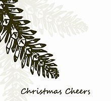 Christmas Cheers - Pinecones 2  - Christmas Card by red addiction