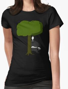 Not so Slenderman Womens Fitted T-Shirt
