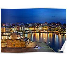 The old Venetian port of Chania Poster