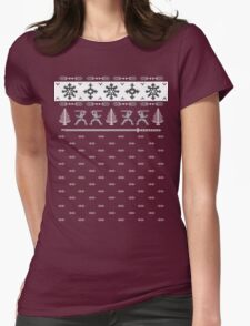Silent Nigh-NINJA! Winter Sweater Womens Fitted T-Shirt