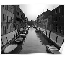"Typical ""Street"" in Venice Poster"