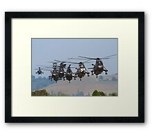 Helicopter Approach Framed Print