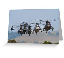 Helicopter Approach Greeting Card