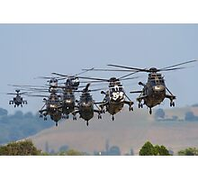Helicopter Approach Photographic Print