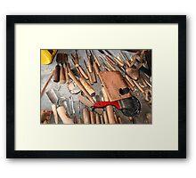 Woodworking Bench Framed Print