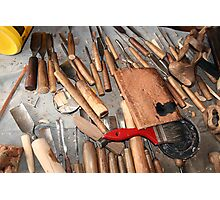 Woodworking Bench Photographic Print