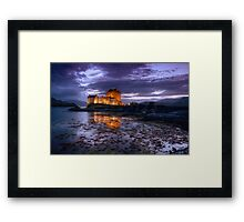 Eilean Donan Castle at night Framed Print