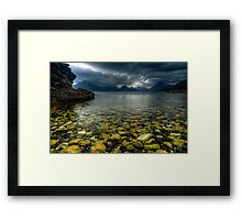 Storm clouds over Elgol Framed Print