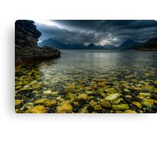 Storm clouds over Elgol Canvas Print
