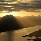 Loch Quoich Sunset by beavo