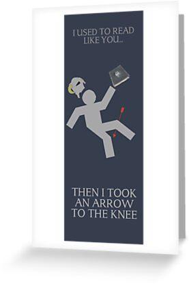 Arrow in the knee book mark by MystikRabbit420