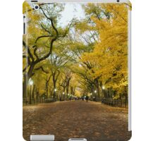 Central Park - Autumn -  Literary Walk - New York City iPad Case/Skin