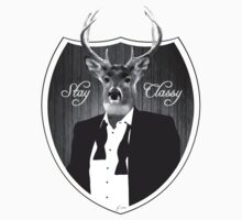 Deer in tuxedo One Piece - Short Sleeve