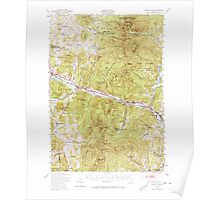 USGS Topo Map  Vermont VT Camels Hump 337912 1948 62500 Poster