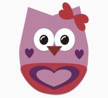 Valentine Owl Kids Tee